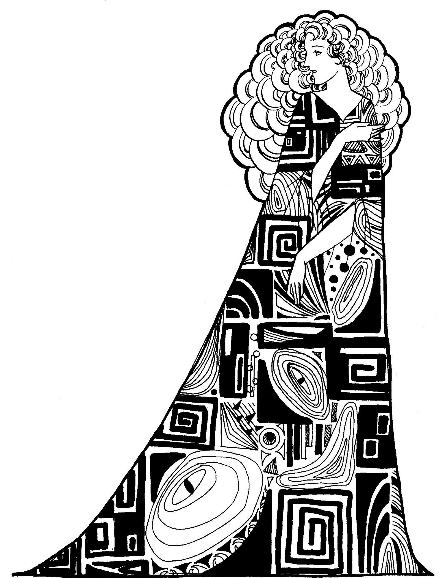 クリムト風の女